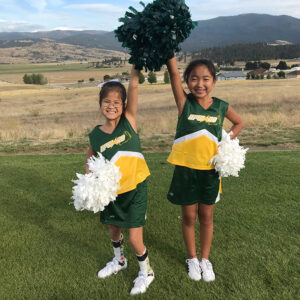 Sisters with a passion for cheerleading