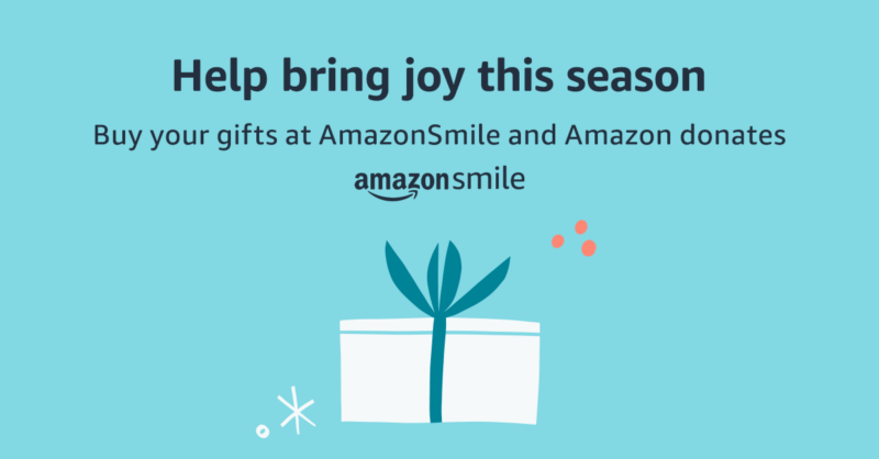 banner bring joy with amazon smile
