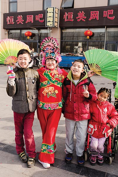 Ed, Corey, and Florence celebrated CNY 2018 with the local festival