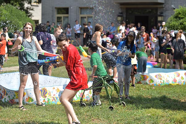 everyone gets wet on children's day