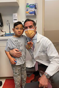 Jamie with cleft surgeon Dr. Taylor at CHOP