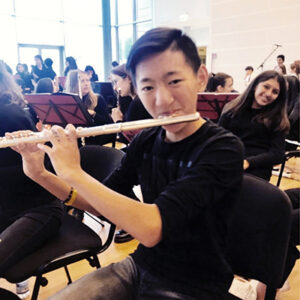 francesco playing the flute